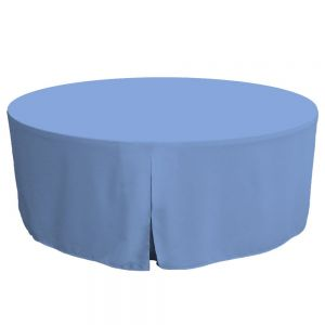 Tablevogue Fitted Folding Table Cover 72 Inch Blue TV2228 72IN