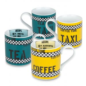 konitz tea time and coffee time mugs set of 4