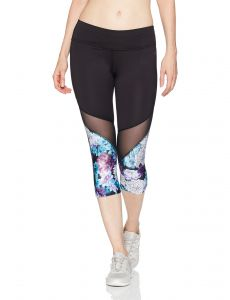 9a047bd39447 PL Movement by Pink Lotus Women s Explosive Hybiscus Floral Printed Capri  Legging