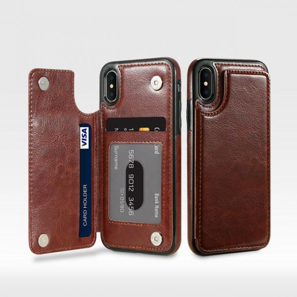 Leather Flip Wallet Phone Cases For iPhone x