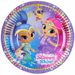 Riethmuller Party Centre Shimmer And Shine Paper Plates 7 Inch, 8 Pieces Buy soccer mermaid party plates | Amscan,Party Time,Tamona - UAE