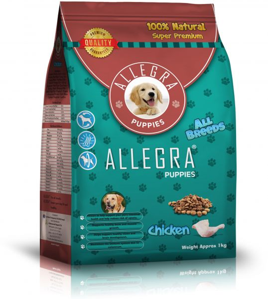 Allegra Super Premium Dry Food For Youngbaby Dogs 1 Kg Chicken