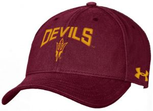 classic fit e5e85 bf610 Under Armour NCAA Arizona State Sun Devils Youth Garment Washed Cotton  Adjustable Hat, Maroon, One Size