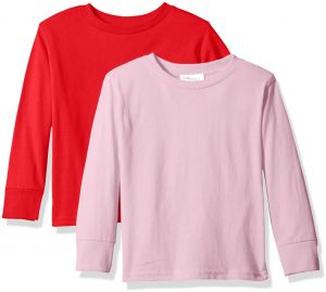 5daa2ba6b Clementine Baby Girls  Little Boys  Everyday Toddler Long Sleeve T-Shirts  Crew 2-Pack