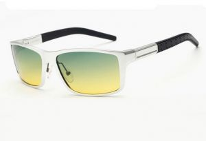 560aca1f1a1 Driving High quaitity men aluminum magnesium polarized sunglasses for day  and night silver green