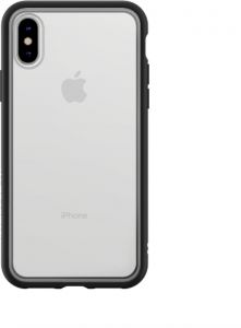 look for de429 499c7 Rhinoshield MOD case for iPhone X (Black with Clear back)