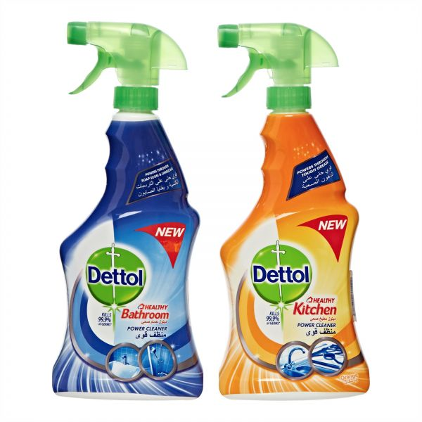 75ee3a0692a5 Dettol Healthy Bathroom and Kitchen Power Cleaner Trigger Spray - Pack of 2  Pieces (2 x 500ml)