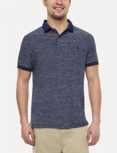 eb5b58077 U.S. Polo Assn. Space Dye Performance Polo T-Shirt for Men - Light Navy