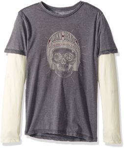 more photos be67c 211a7 Lucky Brand Little Boys  Long Sleeve Graphic Doubler Tee Shirt, Port Royal  Sun, 5