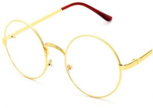 0a91414581c7 Full metal frame retro round flat mirror frame glasses