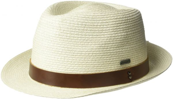 Kangol Men s Waxed Braid Trilby Fedora Hat 58429b2fafe
