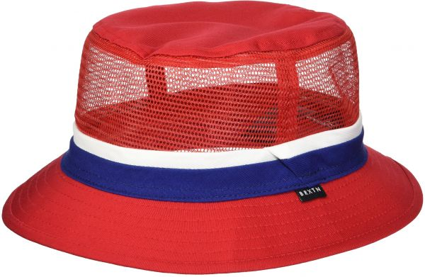 b76e70901b6471 Brixton Men's Hardy Short Brim Mesh Bucket Hat, Red/Navy, XL | KSA | Souq