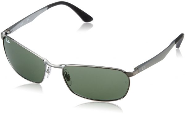 d968fece75 Ray-Ban METAL MAN SUNGLASS - GUNMETAL Frame GREEN Lenses 59mm Non-Polarized
