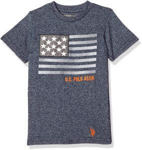 c8988912b6f U.S. Polo Assn. Little Boys  Short Sleeve Fancy Crew Neck T-Shirt