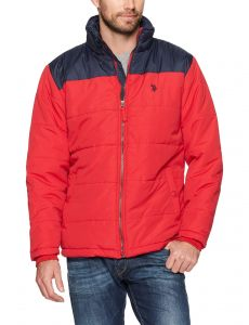 5a83ecf03 U.S. Polo Assn. Mens Standard Puffer Jacket With Poly Lining, Chili Pepper  5986, 2X
