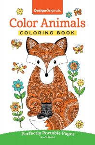 Color Animals Coloring Book Perfectly Portable Pages On The Go Design Originals Extra Thick High Quality Perforated In Convenient