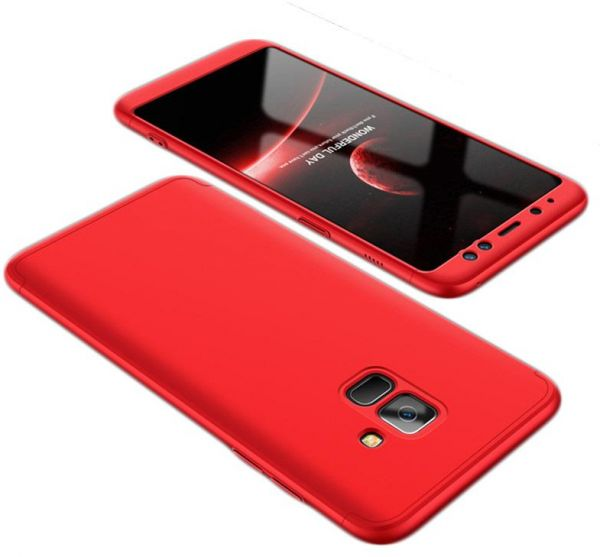 promo code 3aac8 8f2ac Samsung Galaxy A8 Plus Case,Fashion ultra Slim Gkk 360 Full Protection  Cover Case - Red