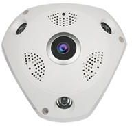 Wireless 3 MegaPixel VR cam 3D Panoramic 360 Degree View IP Camera with voice