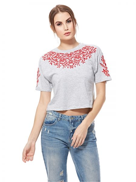 4efa3c5871a New Look Crop Top for Women - Grey Marl | Souq - UAE