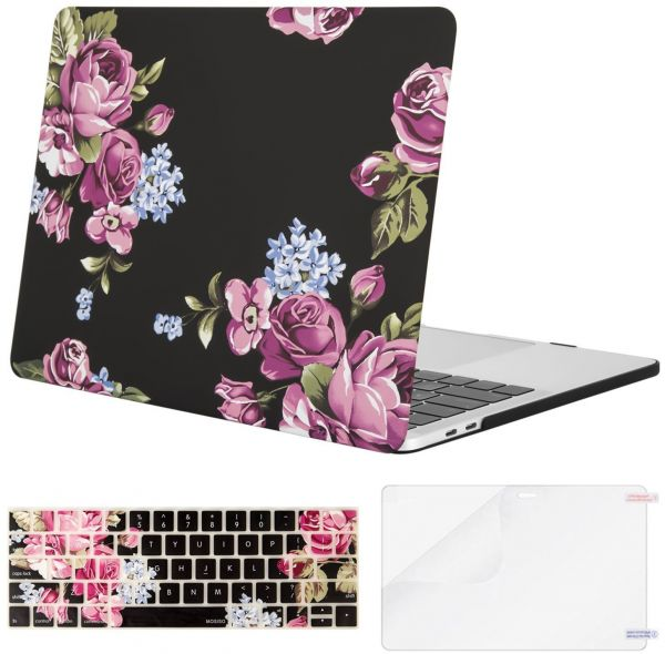 sneakers for cheap e872e 60c57 Mosiso MacBook Pro 13 Case 2018 & 2017 & 2016 Release A1989 / A1706 /  A1708, Plastic Pattern Hard Case Shell with Keyboard Cover with Screen  Protector ...