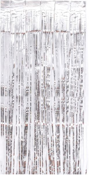 Party Curtains Metallic Tinsel Foil Fringe Backdrop 6ft X 8ft