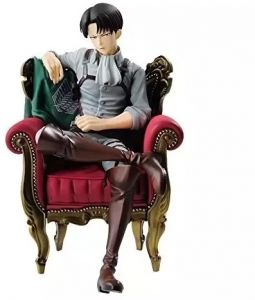 Attack On Titan Levi Ackerman Sit On Chair Model Figure