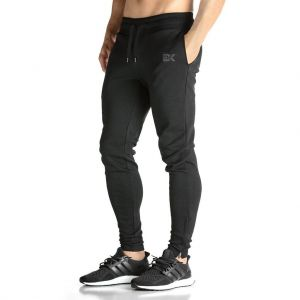 BROKIG Mens ZIP JOGGER Pants - Casual GYM Fitness Trousers Comfortable  Tracksuit Slim Fit Bottoms Sweat Pants with Pockets (M ab4db451c