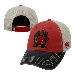promo code 7c1c3 78f95 Top of the World NCAA Maryland Terrapins Offroad Snapback Mesh Back  Adjustable Hat, One Size, Red Black Khaki