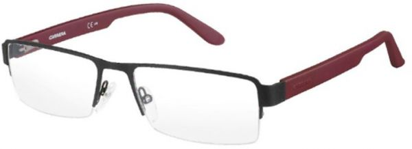 e4d94d99fc6e1 Carrera Glasses Frame Half Frame Unisex - Red   Black