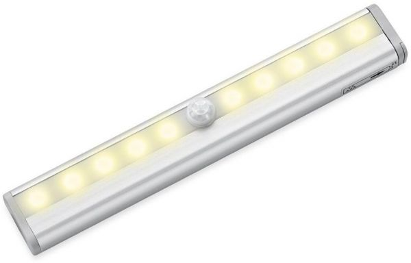 Light Closet Night For Cabinet Stairs Step Bar Hallway Bathroom Diy Stick On Anywhere 10 Led Portable Wireless Lights Battery Operated