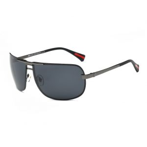 DONNA Oversized Sports Sunglasses with Big Wrap Around Lens and Double  Bridge for Driving Golf Motorcycle Baseball D60(Silver Black frame) 65b791d460