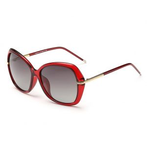 b0edc120c99 DONNA Women s Classic Oversized Polarized Sunglasses Super Big Circle  Shades Ultralight D72(Red)
