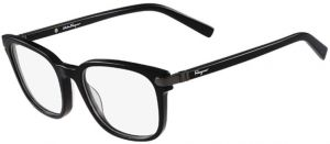 a0bf666df0 FERRAGAMO Square Glasses Frame For Unisex - Black