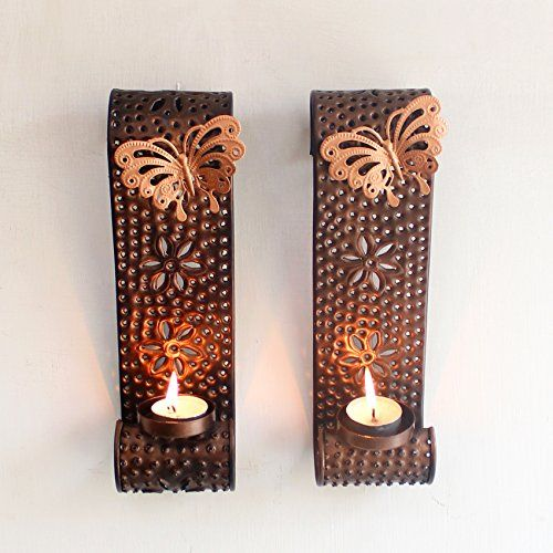 Tiedribbons Wall Sconce Tea Light Holder With Tealight Candle For