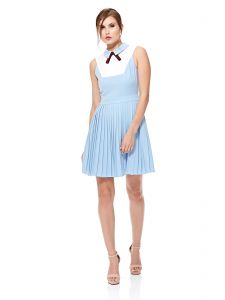 Ted Baker Pleated Dress for Women - Baby Blue 7a1bf6288