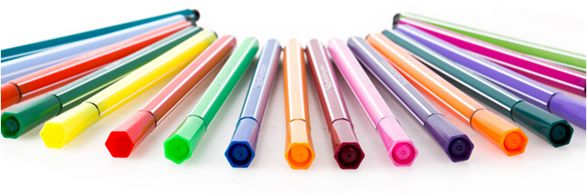 Deli washable watercolor pen with seal 36 color painting pencil marker