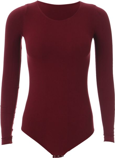 Carina Body Suit Long Sleeve For Women- Wine  13ed7327a