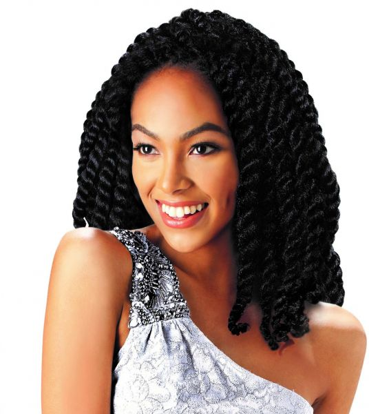 Afro Hair Extensions Short 14 Inches Loop Twist Large Souq Uae