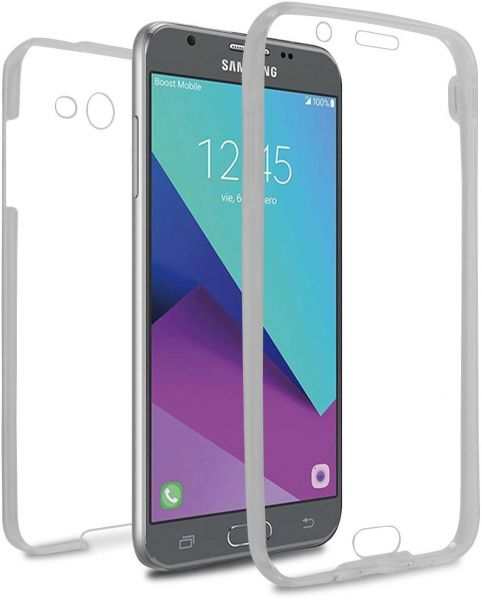 online store 82d9a 9dfe9 Samsung galaxy j7 prime case/cover, full body clear 360 protection,  transparent front and back case, high touch sensitivity cover