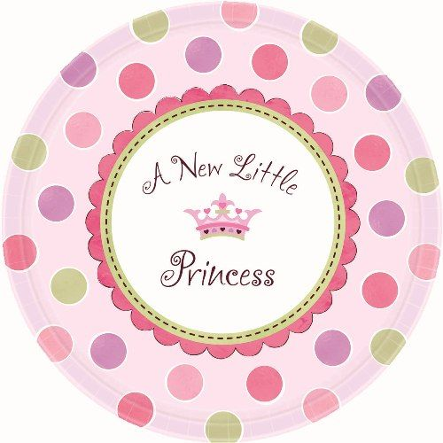 Souq Amscan Little Princess Baby Shower Dinner Plates 1050 Inches