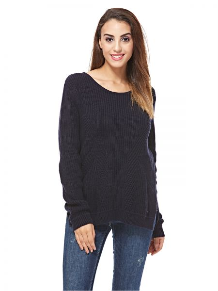 cade1a47fb Tom Tailor Pullover Top for Women - Navy Blue | Souq - UAE