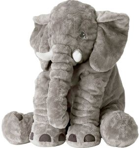 Buy Large 24 Stuffed Animal Soft Cushion Grey Elephant Plush Toy For