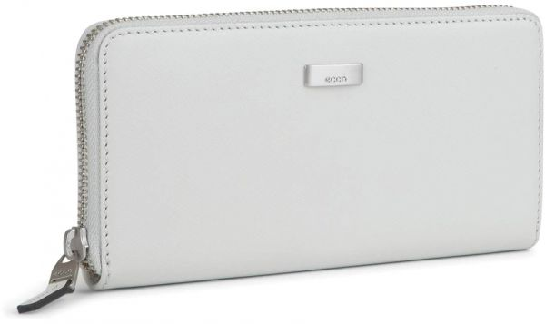 48797d5c04b1 Ecco Felicity White Zip Around Wallet For Women