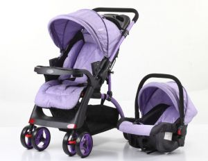 Mamakids UPGRADED Baby Lift And Stroller Travel System With Comfy Infant Car Seat Purple