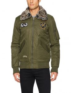 789d14b0a1 X-Ray Men s Slim Fit Flight Jacket with Removable Faux Fur Collar