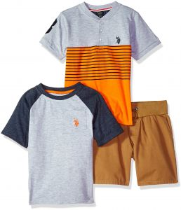 U.S. Polo Assn. Little Boys  T-Shirt and Short 3 Piece Set 4de265227