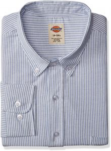 0c604d4a Dickies Occupational Workwear SS36BS 195RG Polyester/Cotton Men's Button-Down  Long Sleeve Oxford Shirt, 19-1/2