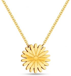 Flower Pendant with Chain