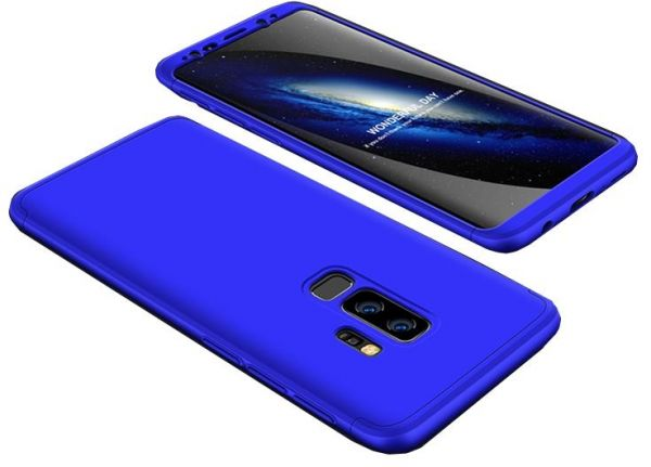 official photos 5ad12 f4a11 Samsung Galaxy S9 Plus GKK Case 360 Degree 3 in 1 Full Body Protection Hard  PC Cover - Blue