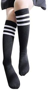 d601dbe83f7 2pairs Triple Stripes Toddler Kids Soccer Socks High Knee Athletic Casual  Cotton Tube Uniform Kawaii Stockings For Baby Girls 3-8 years